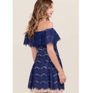 Francesca's Off the Shoulder Lace Dress Sz Medium